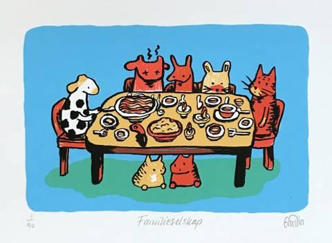 Bilde av Familieselskap av Gunilla Holm Platou