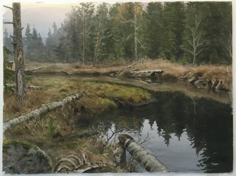 Bilde av Innunder stillhet av Einar Sigstad m/ramme